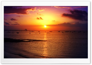 Sunset at Salvador 2 HD Wide Wallpaper for Widescreen