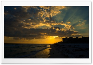 Sunset at Seagrove HD Wide Wallpaper for Widescreen