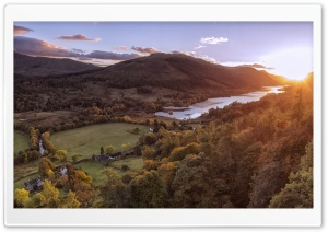 Sunset, Balquhidder, Scotland HD Wide Wallpaper for 4K UHD Widescreen desktop & smartphone
