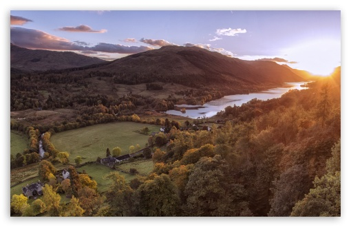 Download Sunset, Balquhidder, Scotland UltraHD Wallpaper