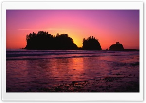 Sunset Beach HD Wide Wallpaper for Widescreen