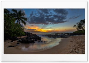 Sunset Beach Hawaii Ultra HD Wallpaper for 4K UHD Widescreen desktop, tablet & smartphone