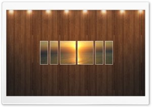 Sunset Beach Picture   Wood Wall HD Wide Wallpaper for Widescreen