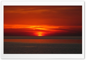 Sunset, Bloody Sunset HD Wide Wallpaper for Widescreen