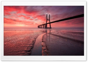 Sunset Bridge HD Wide Wallpaper for Widescreen