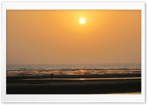 Sunset Bushehr HD Wide Wallpaper for Widescreen