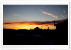 Sunset Calgary HD Wide Wallpaper for Widescreen