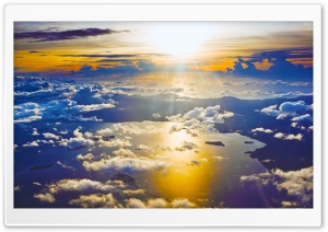Sunset from a Plane HD Wide Wallpaper for Widescreen
