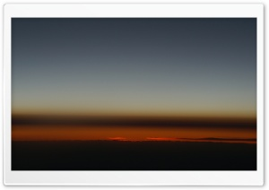 Sunset From Airplane HD Wide Wallpaper for 4K UHD Widescreen desktop & smartphone