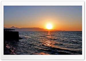 Sunset Greece HD Wide Wallpaper for Widescreen