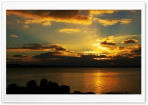 Sunset Hiding Behind The Clouds HD Wide Wallpaper for Widescreen