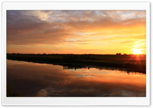 Sunset in Holland HD Wide Wallpaper for 4K UHD Widescreen desktop & smartphone