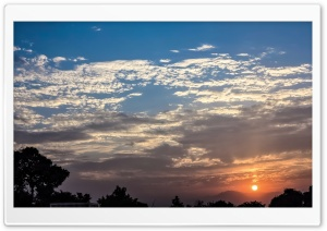 Sunset In Pakistan, Peshawar, Askari 5 HD Wide Wallpaper for Widescreen