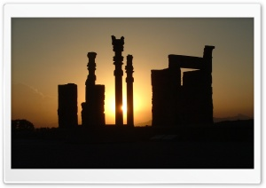 Sunset in Perspolis - Shiraz, Iran HD Wide Wallpaper for Widescreen