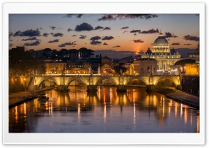 Sunset in Rome HD Wide Wallpaper for 4K UHD Widescreen desktop & smartphone