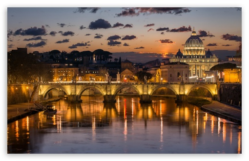 Download Sunset in Rome HD Wallpaper