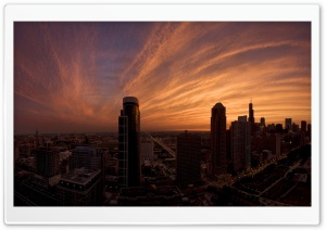 Sunset In The City HD Wide Wallpaper for 4K UHD Widescreen desktop & smartphone
