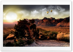 Sunset In The Desert HD Wide Wallpaper for Widescreen