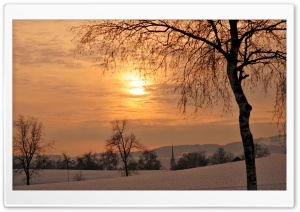 Sunset In Winter HD Wide Wallpaper for Widescreen
