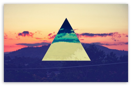 Sunset Inverted Colour Triangle HD wallpaper for Standard 4:3 5:4 Fullscreen UXGA XGA SVGA QSXGA SXGA ; Wide 16:10 5:3 Widescreen WHXGA WQXGA WUXGA WXGA WGA ; HD 16:9 High Definition WQHD QWXGA 1080p 900p 720p QHD nHD ; Other 3:2 DVGA HVGA HQVGA devices ( Apple PowerBook G4 iPhone 4 3G 3GS iPod Touch ) ; Mobile VGA WVGA iPhone iPad PSP Phone - VGA QVGA Smartphone ( PocketPC GPS iPod Zune BlackBerry HTC Samsung LG Nokia Eten Asus ) WVGA WQVGA Smartphone ( HTC Samsung Sony Ericsson LG Vertu MIO ) HVGA Smartphone ( Apple iPhone iPod BlackBerry HTC Samsung Nokia ) Sony PSP Zune HD Zen ; Tablet 2 ;