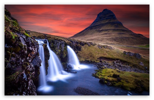 Sunset, Kirkjufellsfoss waterfall, Kirkjufell, Iceland ❤ 4K UHD Wallpaper for Wide 16:10 5:3 Widescreen WHXGA WQXGA WUXGA WXGA WGA ; 4K UHD 16:9 Ultra High Definition 2160p 1440p 1080p 900p 720p ; UHD 16:9 2160p 1440p 1080p 900p 720p ; Standard 4:3 5:4 3:2 Fullscreen UXGA XGA SVGA QSXGA SXGA DVGA HVGA HQVGA ( Apple PowerBook G4 iPhone 4 3G 3GS iPod Touch ) ; Tablet 1:1 ; iPad 1/2/Mini ; Mobile 4:3 5:3 3:2 16:9 5:4 - UXGA XGA SVGA WGA DVGA HVGA HQVGA ( Apple PowerBook G4 iPhone 4 3G 3GS iPod Touch ) 2160p 1440p 1080p 900p 720p QSXGA SXGA ;