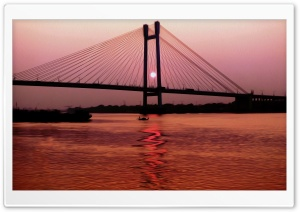 Sunset_Kolkata HD Wide Wallpaper for Widescreen