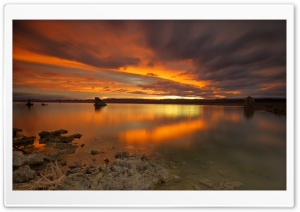 Sunset Lake Landscape HD Wide Wallpaper for Widescreen