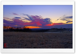 Sunset, Lawrence, Kansas HD Wide Wallpaper for Widescreen