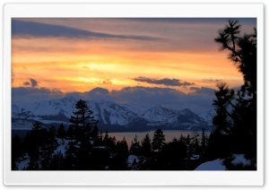 Sunset Mountain HD Wide Wallpaper for Widescreen