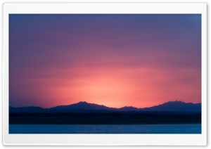 Sunset Mountains HD Wide Wallpaper for Widescreen
