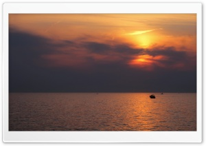 Sunset near Rovinj, Croatia Ultra HD Wallpaper for 4K UHD Widescreen desktop, tablet & smartphone