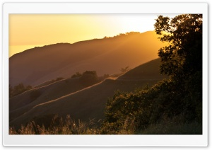 Sunset on Russian Ridge, California HD Wide Wallpaper for 4K UHD Widescreen desktop & smartphone