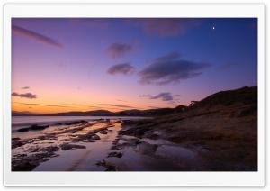 Sunset On The Beach 3 HD Wide Wallpaper for 4K UHD Widescreen desktop & smartphone