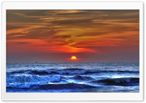 Sunset On The Beach 9 HD Wide Wallpaper for Widescreen