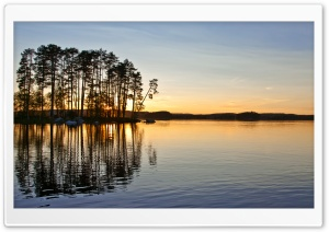 Sunset On The Lake HD Wide Wallpaper for Widescreen