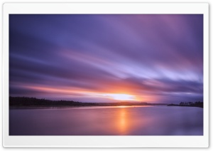 Sunset on the River Clyde HD Wide Wallpaper for 4K UHD Widescreen desktop & smartphone