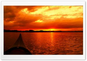 Sunset on Water HD Wide Wallpaper for Widescreen