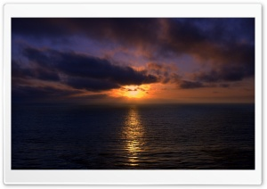 Sunset, Open Sea HD Wide Wallpaper for Widescreen