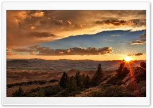 Sunset Over Desert HD Wide Wallpaper for Widescreen