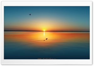 Sunset Over Lake Siutghiol HD Wide Wallpaper for Widescreen