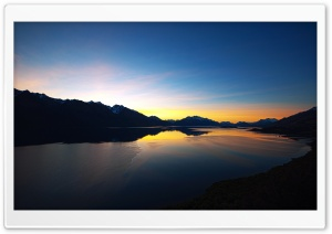 Sunset Over Mountain Lake HD Wide Wallpaper for Widescreen