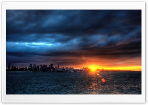 Sunset Over The Bay HD Wide Wallpaper for Widescreen