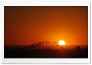 Sunset Over The Bridge Ultra HD Wallpaper for 4K UHD Widescreen desktop, tablet & smartphone
