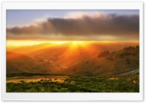 Sunset Over The California State Route 92 HD Wide Wallpaper for Widescreen