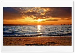 Sunset Over the Sea HD Wide Wallpaper for Widescreen
