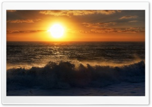 Sunset Over The Tasman Sea Ultra HD Wallpaper for 4K UHD Widescreen desktop, tablet & smartphone