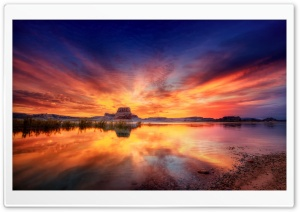 Sunset Reflection HD Wide Wallpaper for Widescreen