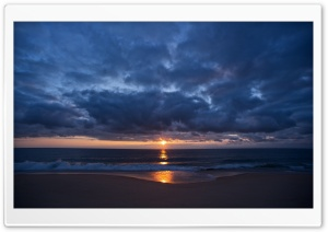 Sunset Reflection, Beach HD Wide Wallpaper for Widescreen
