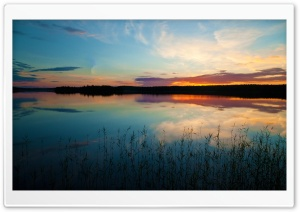 Sunset Reflection On Lake HD Wide Wallpaper for Widescreen