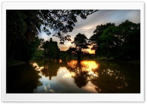 Sunset Reflection On Water HD Wide Wallpaper for Widescreen